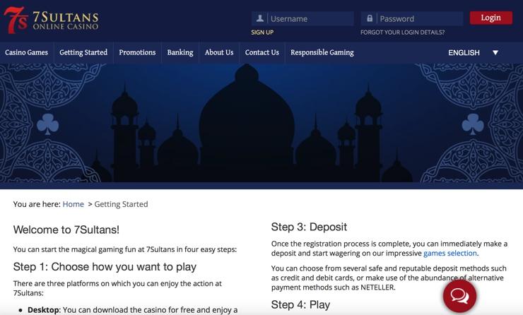 7 Sultans Casino Games