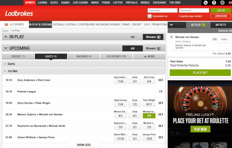 Ladbrokes Features Screenshot