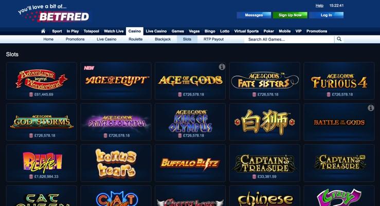 Betfred Casino Games