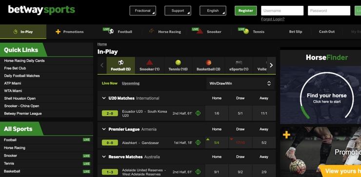 Betway Features Screenshot