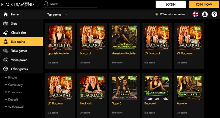 Black Diamond Casino Games