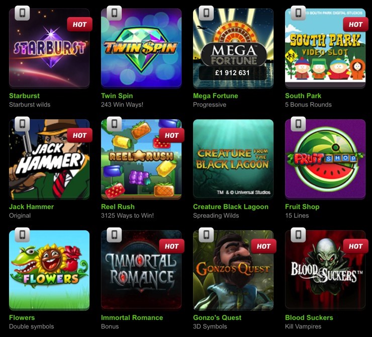 Mobilebet Casino Games