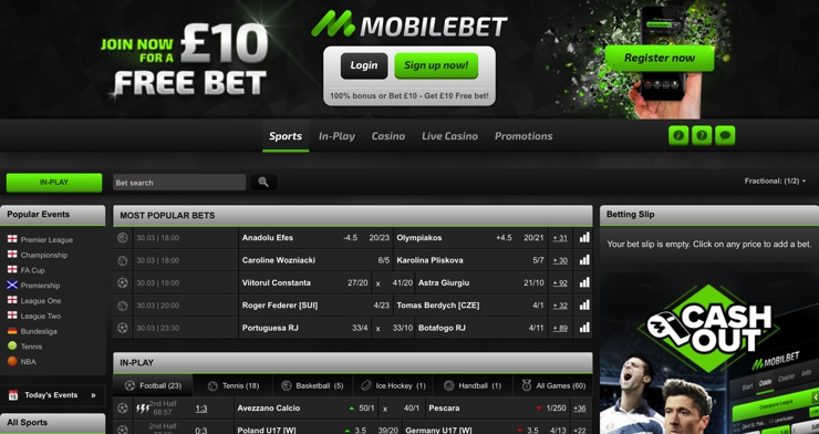 MobileBet Screenshot