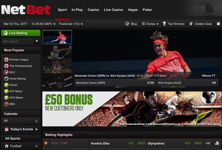 NetBet Screenshot