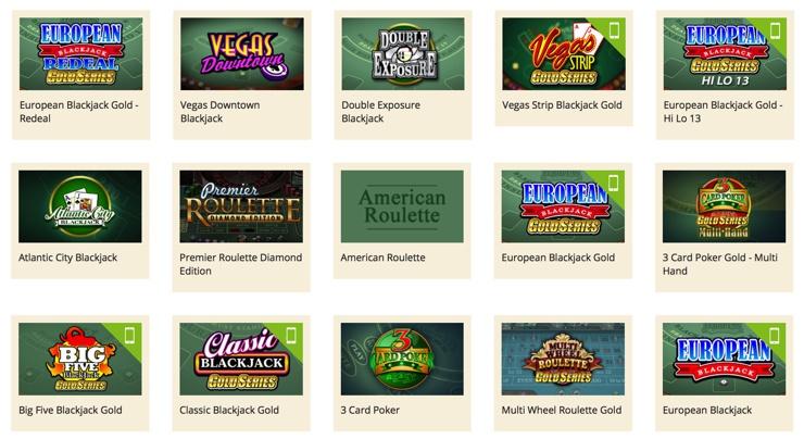 Vegas Palms Online Casino Games